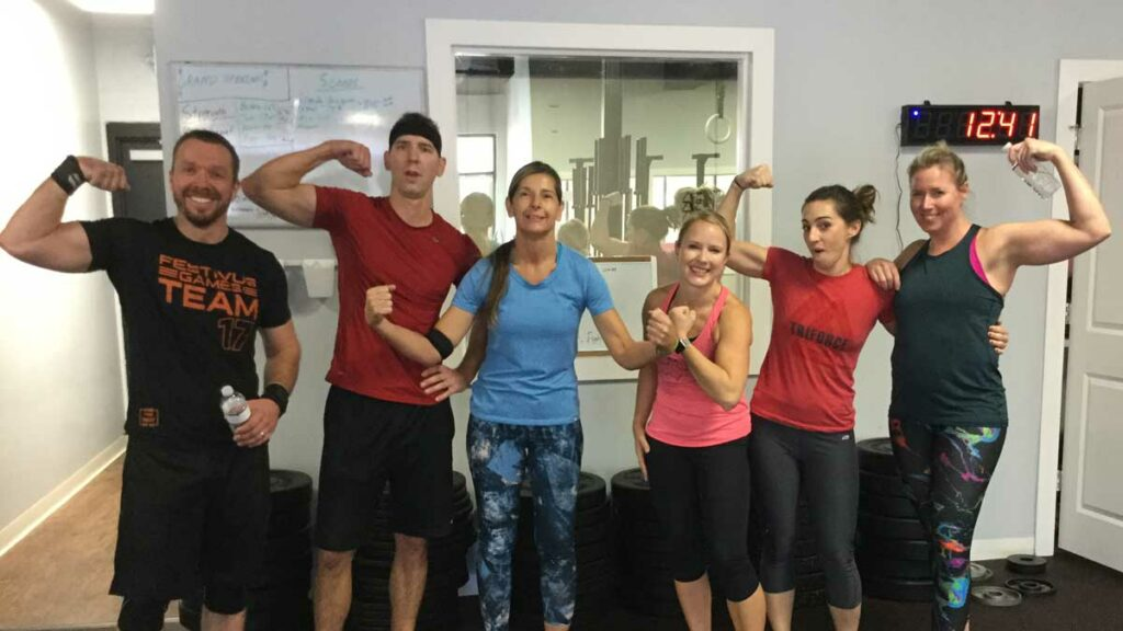 Triforce-Crossfit-St-Augustine-Grand-Opening-celebration-people-after-crossfit-workout-1