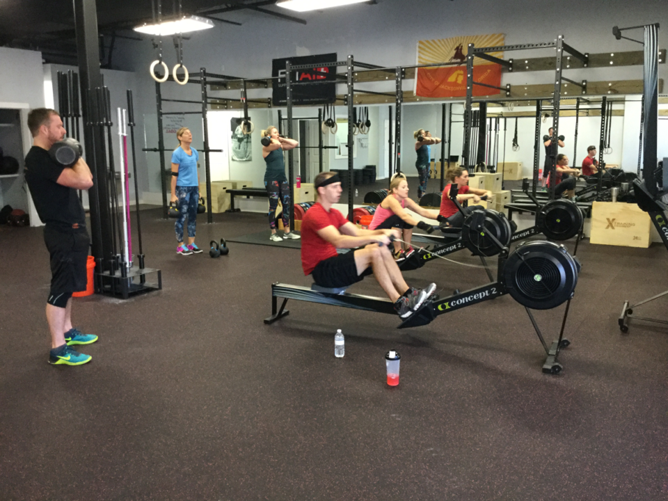 Triforce-Crossfit-St-Augustine-grand-opening-celebration-rowing